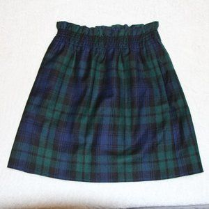 NWT J Crew Green and Blue Plaid Skirt